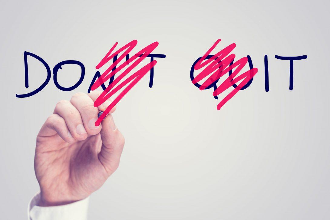 Stop niet. Motivatie nodig? Download het e-boek Wat Je Denkt Ben Jezelf