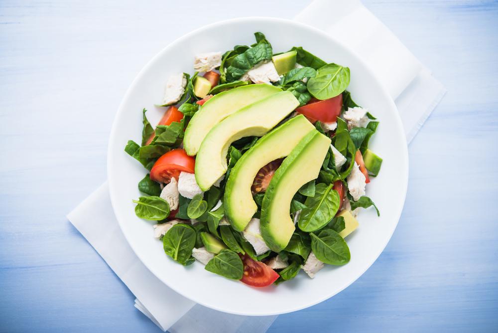 zomerse salade avocado
